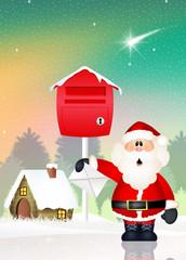 Santa Claus with wishlist