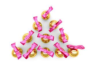 3D Palline a forma di albero di Natale