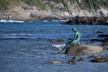 Statue du pêcheur à Sestri Levante - Italie
