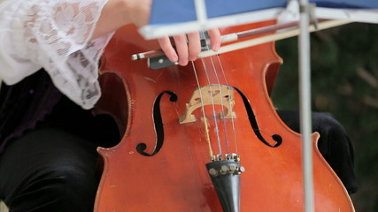 Woman Playing th Violoncello