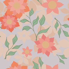 Floral pattern. Vector illustration.