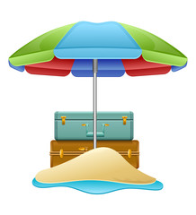 Concept of summer travelling