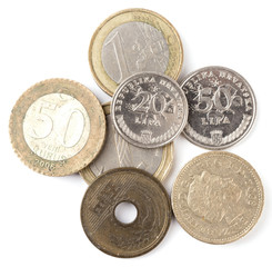 a lot of different coins