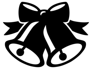 Icon: Weihnachtsglöckchen – schwarz, Vektor, freigestellt