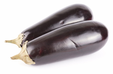 2 eggplants isolated
