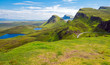 canvas print picture - Green landscape on the Isle of Skye in Scotland