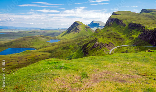 canvas print picture Green landscape on the Isle of Skye in Scotland