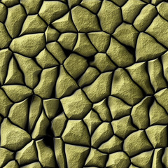 Abstract texture with golden stones