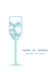 Vector shiny diamonds wine glass silhouette pattern frame