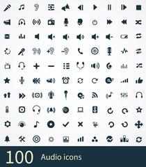 100 audio icon