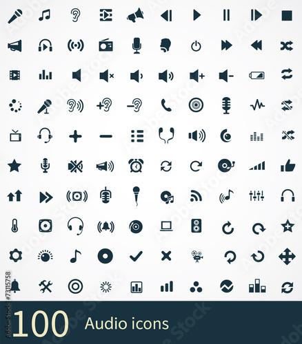 Zdjęcia na płótnie, fototapety, obrazy : 100 audio icon