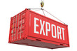 Export - Red Hanging Cargo Container. - 73115985