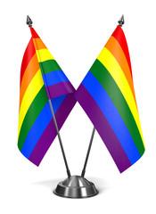 Rainbow Gay Pride Miniature Flags.