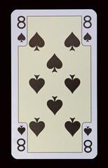Spielkarten der Ladys - Pik Acht