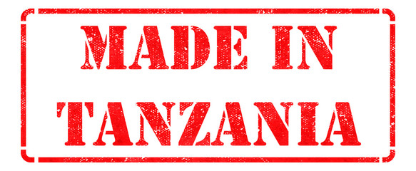 Made in Tanzania on Red Stamp.