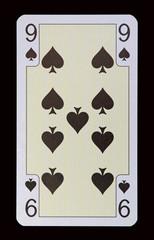 Spielkarten der Ladys - Pik Neun