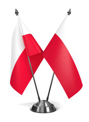 Poland - Miniature Flags.
