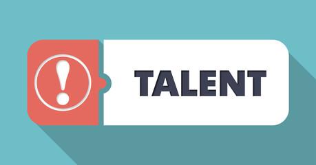 Talent on Blue in Flat Design.