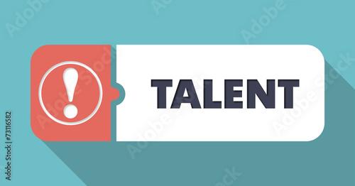 Talent on Blue in Flat Design. - 73116582