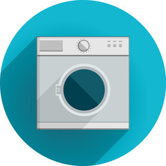 Flat icon for washing machine