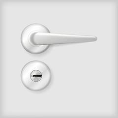 Illustration of door handle and lock