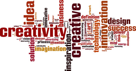 Creativity word cloud concept. Vector illustration