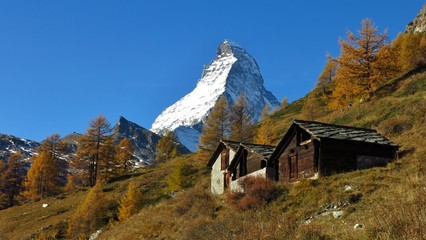 Autumn day in Zermatt