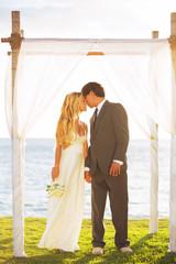 Tropical Sunset Wedding