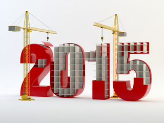 2015 and cranes - red