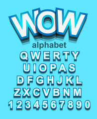 Colorful Alphapet Font to use for children's parties invitation