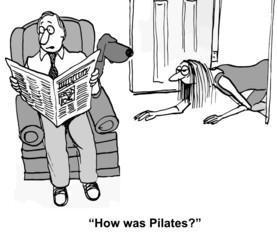"""How was Pilates?"""