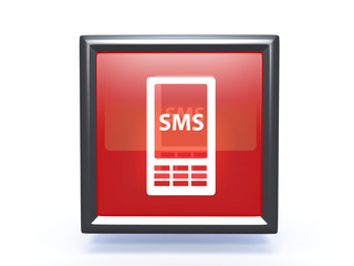 sms square icon on white background