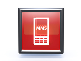 mms square icon on white background