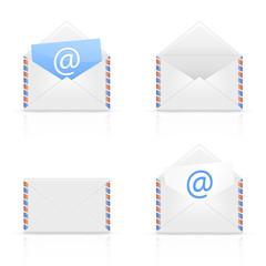 Set of envelope email
