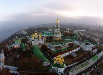 aerial view of Kiev-Pechersk Lavra