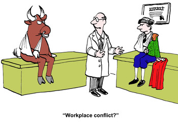 """Workplace conflict?"""