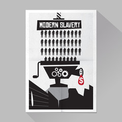 Modern slavery poster