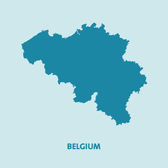 Belgium Map Vector Very Detailed