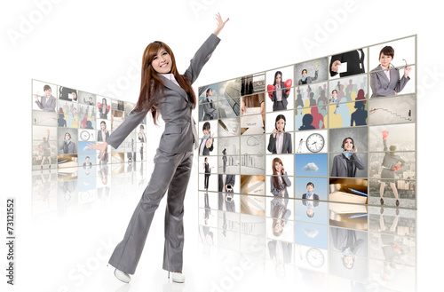 canvas print picture business concept wall