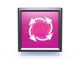 recycle square icon on white background