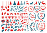 Christmas design elements, vector set poster