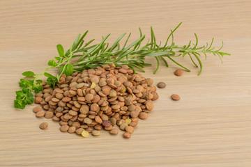 Raw lentils
