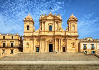 Famous Architectural Noto Cathedral, Sicily, Italy