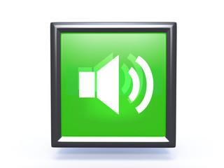 volume square icon on white background
