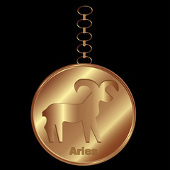 Bronze Charm for Aries
