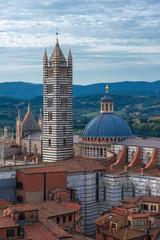 Panoramic view of Sienna city, Italy