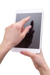 tablet in hands