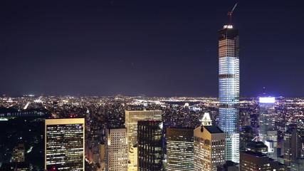 night new york construction near central park 4k time lapse