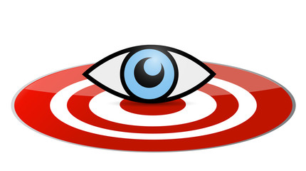 eye target illustration design