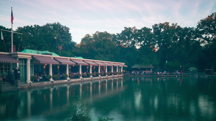 central park lake and boathouse 4k time lapse from new york
